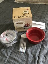 Chantal Ceramic Fondue Red .7 quart (3 Cups) Stainless Steel Stand