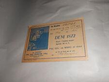 Vintage 1947 QSL Amateur Radio Card DEM1872 Weidach Germany