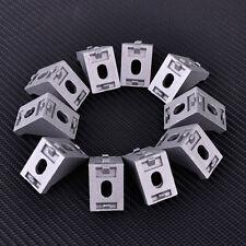 10x 28x28x 20mm Gray Aluminum 90 L Shape Brace Right Angle Corner Joint Bracket