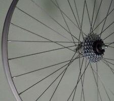 28 Zoll Hinterrad Alu Kastenfelge  mit Schraubkranz 5F montiert 622-19 silber