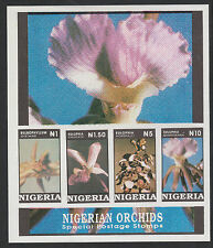 Nigeria (305) 1993 Orchids  m/sheet IMPERFORATE  ERROR  unmounted mint