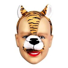 Noisy Tiger Animal Mask On Headband Fancy Dress Accessory P982