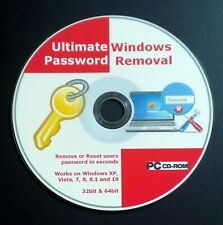Windows Password Recovery Reset Remove DVD CD Boot Disc for 7, 8 & 10 New 2019