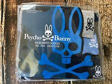 PSYCHO BUNNY CREW NECK T-SHIRT 3 PACK NAVY BLUE GREY MENS SIZE LARGE NEW SET