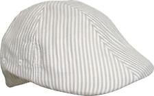 CAPPELLO COPPOLA ATLANTIS COTONE RIGHE bianco beige GATSBY visiera berretto 08575f387d2b