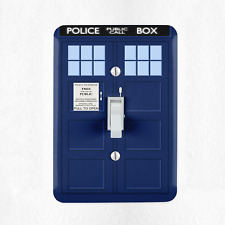 Tardis Dr. Who Light Switch Cover Plate Duplex Outlet Time Lord Phonebooth New