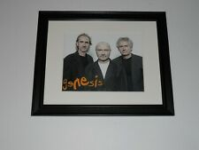 """Framed Genesis 2007 Promo Pic Phil Collins, Mike Rutherford,Tony Banks, 14""""x17"""""""