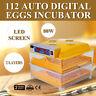 Incubatore 112 uova Automatico Incubatrice anatra schiusa pollo gallina NEWEST