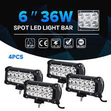 """4X 6"""" 36W CREE LED Work Light Bar Spot/Flood Offroad Fog Jeep Truck 4X4WD 7"""" 72W"""