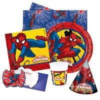 ULTIMATE SPIDERMAN Birthday Party Range - Tableware & Decorations Marvel 2017