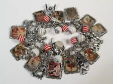 Vintage Circus Charm Bracelet Hand Crafted Glass Dome Barnum Sells Floto