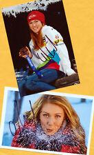 Mikaela shiffrin - 2 top autógrafo-imágenes (16) Print copies + ski ak firmado