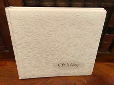 Vintage Embossed White Traditional Wedding Photo Album - Unused