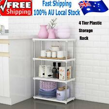 4 Tier Kitchen Shower Multi Storage Shelf Organizer Rack Bathroom Plastic