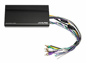 ALPINE KTA-450 400w 4-Channel Power Pack Amplifier Behind Radio/GloveBox Amp