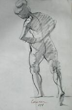 Harry Carmean drawing of standing female model 1974