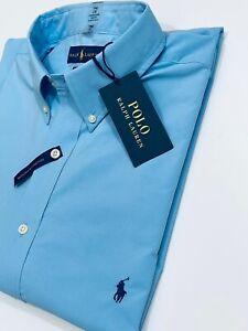 Ralph Lauren Men's Classic Fit Performance Shirt  (Blue)    RRP £98