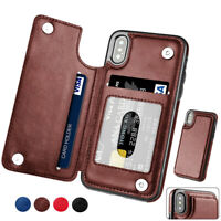 For iPhone 12 11 Pro Max 6 7 8 Plus Xr Leather Magnetic Flip Wallet Case Cover