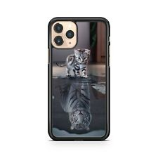 Elegant Kitten Majestic Tiger Animal Water Reflection Colourful Phone Case Cover