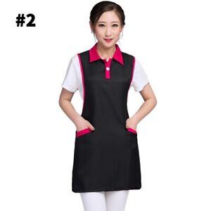 Beautician Work Clothes Sleeveless Apron Workwear Collar Vest Sleeveless Uniform