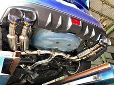 Invidia R400 Gemini Cat Back Exhaust w/Burnt Blue Tips 2011-2014 WRX / STi Sedan