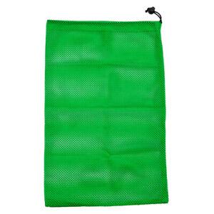 Mesh Drawstring Bag for Sports Golf Balls, Baseball Balls, Dive Snorkel, Laundry