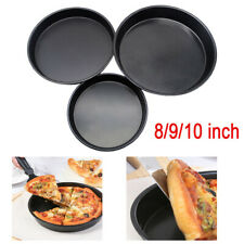 Carbon Steel Non-Stick Pizza Pan Oven Baking Trays Mold Cake Dish Mould Plate