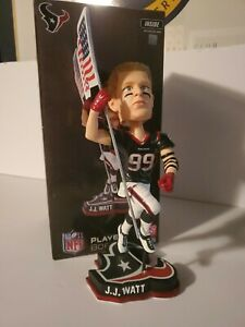 "JJ WATT Houston Texans EXCLUSIVE ""American Flag Salute"" Bobblehead #/360 NIB!"