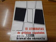 LIBRO DI 15 LITOGRAFIE DI ARTISTI SPAGNOLI EDITORE FOGLIO