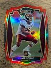Chase Young 2020 Panini Select Premier Level Red Prizm Diecut Rookie Card RC 164. rookie card picture