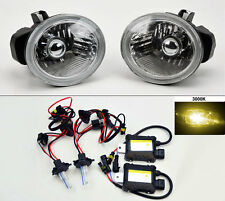 Clear Glass Front Fog Lights + 3,000K HID kit FITS Nissan Altima Murano Infiniti