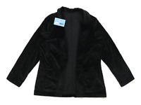 Preworn Womens Size S Corduroy Blend Textured Black Midweight Jacket