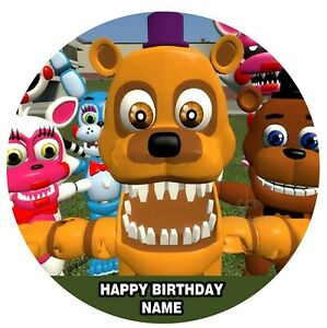 Five Nights At Freddy's FNAF Edible Image personalised icing cake topper picture