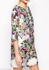 Petite Boat Neck Floral Dresses for Women