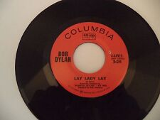 **Lay Lady Lay/Peggy Day*   BOB DYLAN  Columbia Records  VG++   Folk Icon!!!