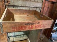 Vintage 1959 Sunbeam Bread carrier crate