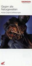 Prospekt Folder 2003 Honda Griffheizung Motorrad brochure Broschüre Zubehör