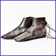 Medieval Leather Boots Riding Shoes Fancy Armor Renaissance Costume Mens Shoe