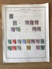 21 Northern Nigeria stamps