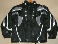 Spyder Mens Black Ski Snowboard Jacket Size Large 42  Removable Sleeves & Hood