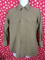 RARE 1940'S Vintage US ARMY M1937 MUSTARD WOOL Jacket Shirt Military Clothes