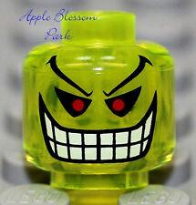 NEW Lego Batman JOKER BOMB Trans Neon Green Alien Monster Minifig Head 7782 7783