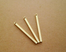 20pcs 30x2mm Yellow Raw Brass Square Bar Hole Size 1mm Solid Brass