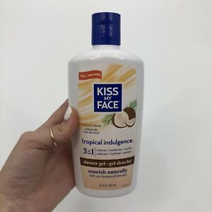 Kiss My Face Tropical Indulgence Coconut Creme Shower Gel 16 fl. oz. NEW HTF