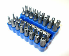 33pc Screwdriver Bits / Security Bit set Torx / Hex / Tamperproof  BERGEN 1182