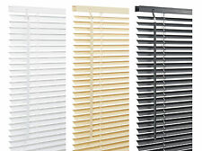 Pvc Venetian Window Blinds. Easy Fit Home Blind. White, Black, Beech, Many Sizes