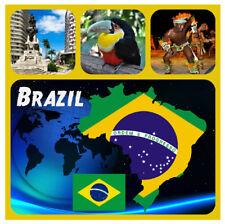 BRASILE - souvenir gadget quadrato CALAMITA FRIGO - Viste / BANDIERE /