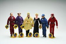 """1990 Walt Disney Applause Dick Tracy 9"""" action figures collection of 6"""