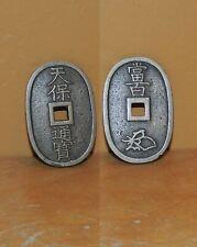 ONE Tenpo Tempo Tsuho 100 Mon coin Edo period Bronze Antique Japan Japanese 19th