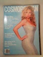 August 1991 COSMOPOLITAN Magazine Rachel Williams Cover Patrick Swayze Poster